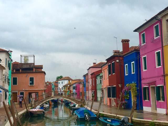 Burano, even beautiful in the rain.